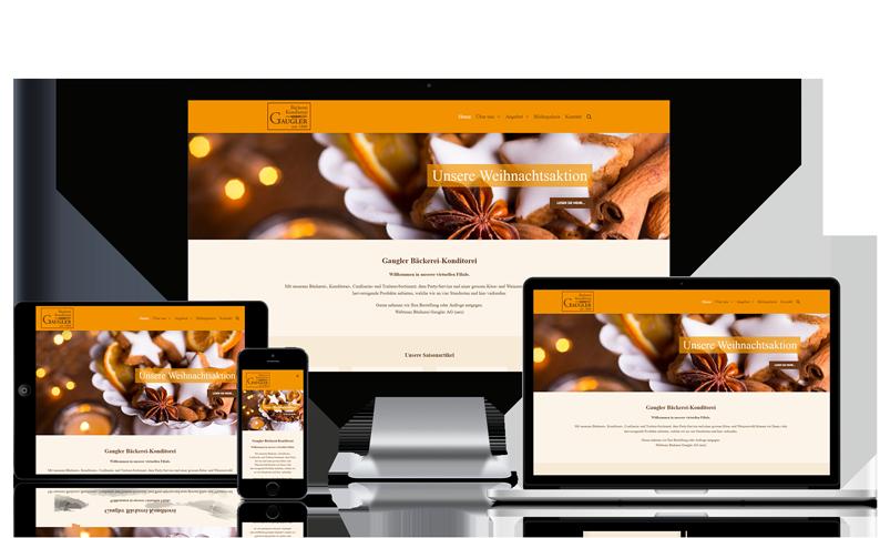Webseite für Bäckerei in Basel