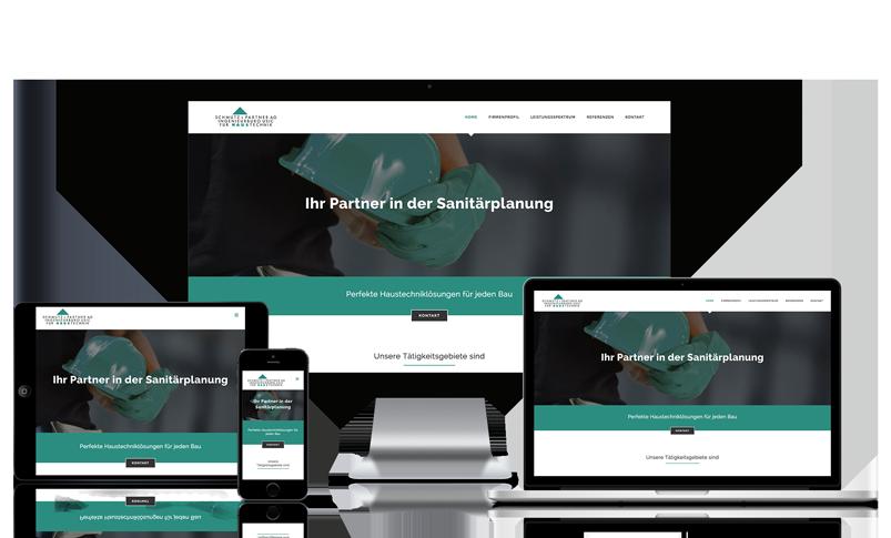Webseite für Sanitärplanung in Basel