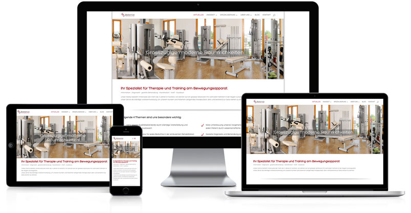 Webseite für Physiotherapeutische Praxis