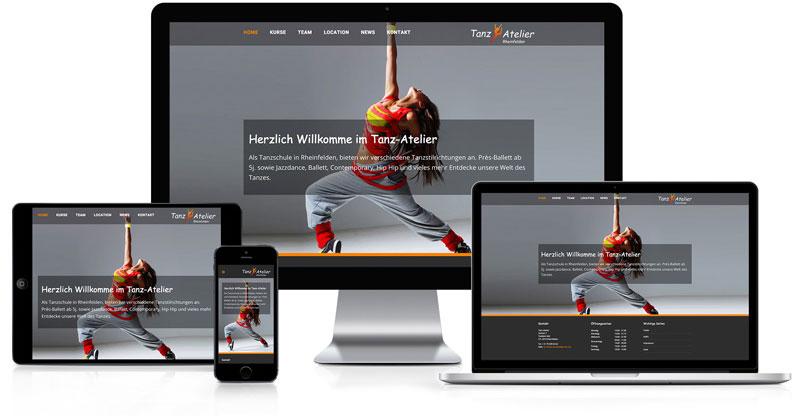 Webseite für Tanzatelier