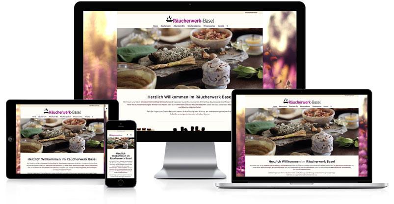 Webseite und Online-Shop für Räucherwerk-Basel
